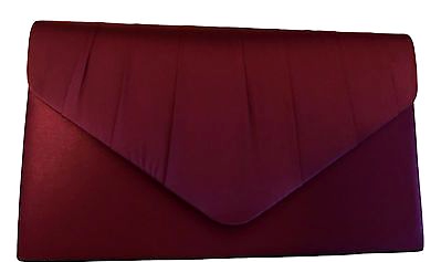 Burgundy Clutch Bag Ladies Claret Satin Evening Bag Wine Red Shoulder Bag Prom Handbag