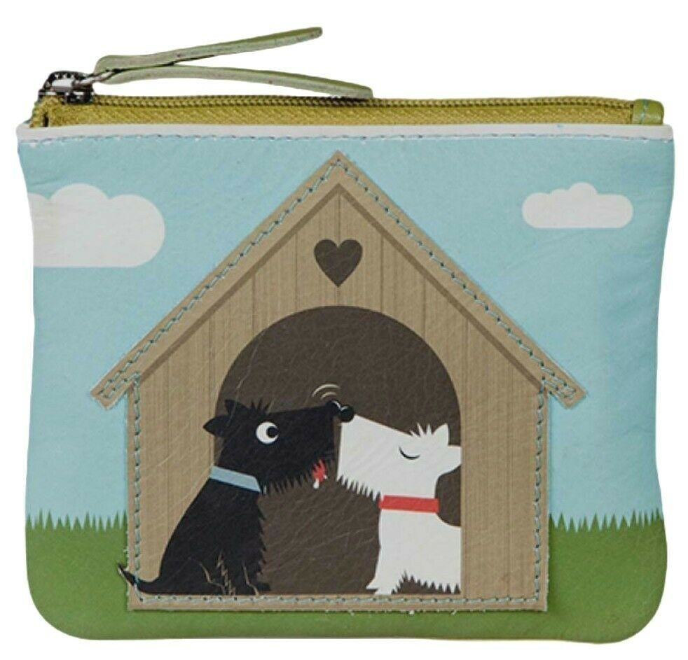 Mala Leather Westie Purse Scottie Dog Cute Dogs Small Leather Coin Money Blue Pouch Girls Blue Green
