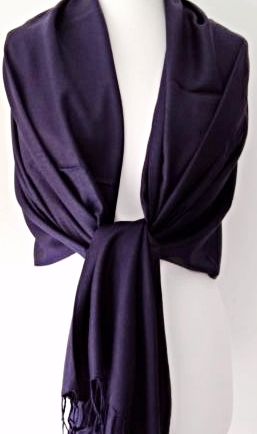 Navy Blue Pashmina Wrap Ladies Fair Trade Oversized Scarf Large Shawl Wedding Prom Accessories