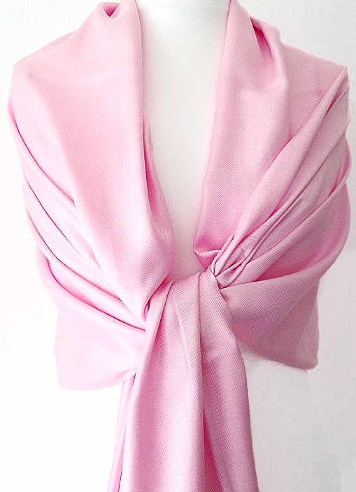 Pink Pashmina Wrap Ladies Fair Trade Oversized Scarf Wedding Shawl Large Prom Accessories