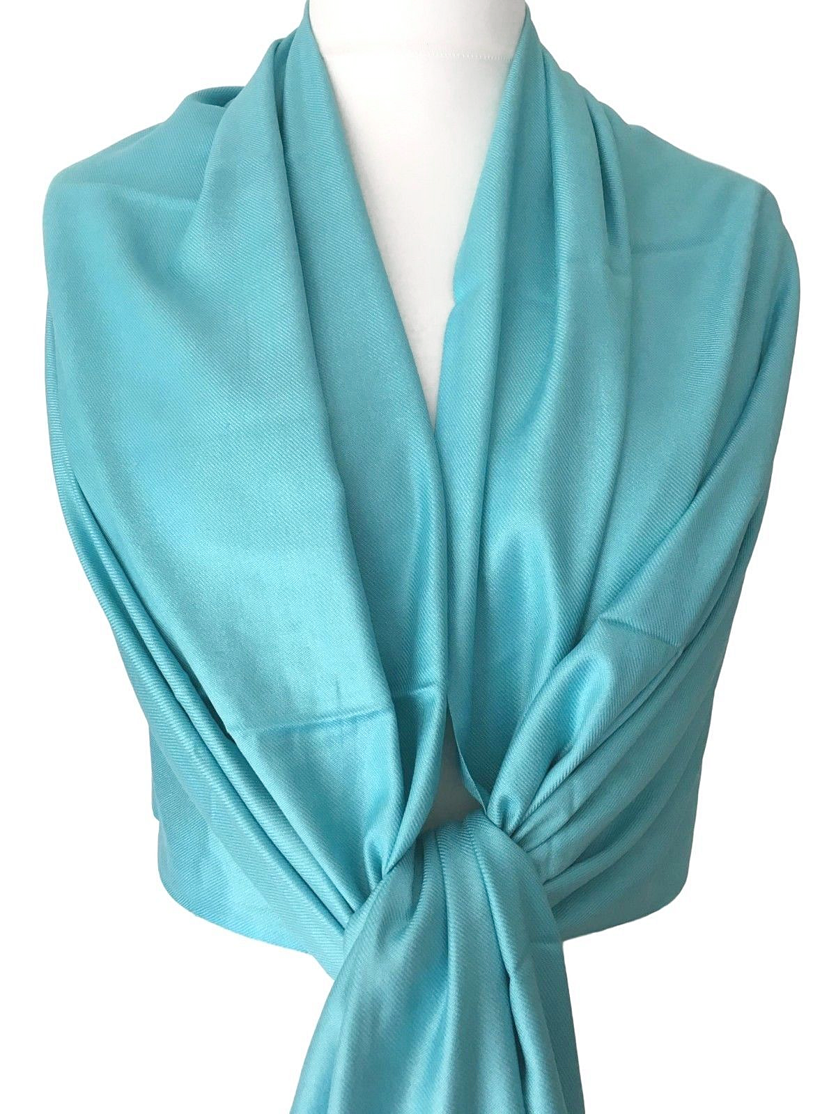 Teal Pashmina Petrol Blue Wrap Peacock Blue Scarf Fair Trade Ladies Shawl New